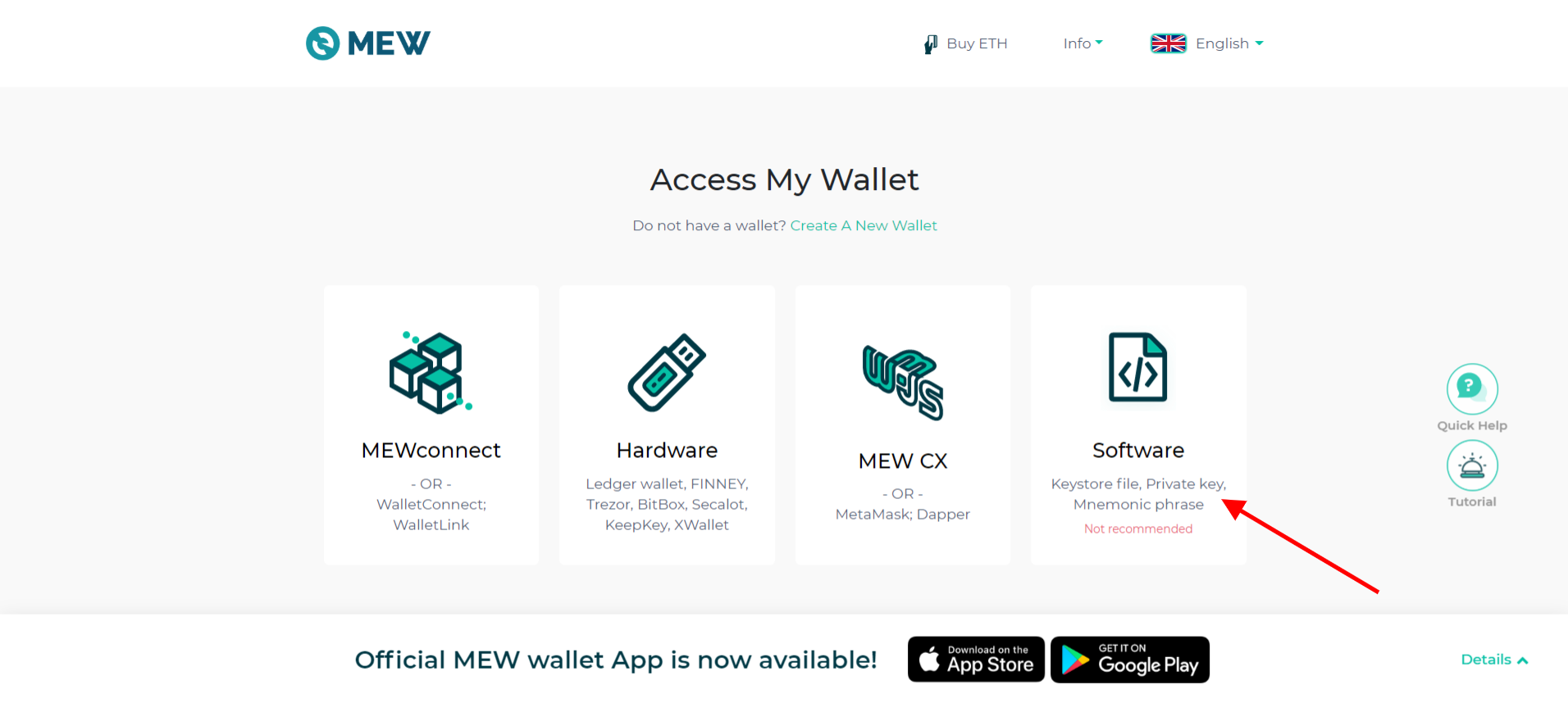 MyEtherWallet Private Key Import
