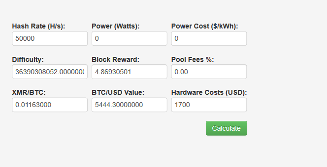 calculating cloud mining profit