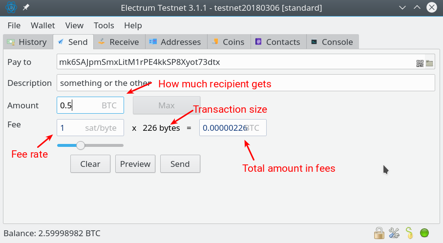 customize Bitcoin fee with Electrum Wallet