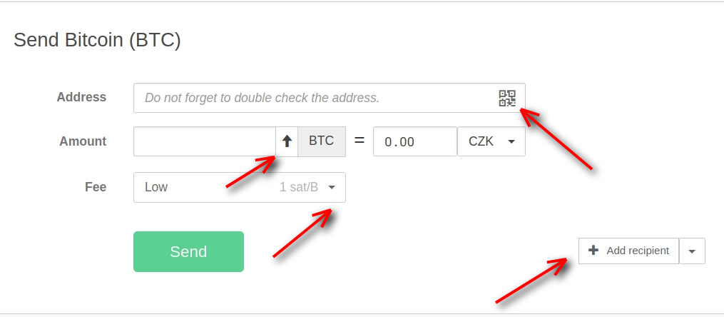 customize Bitcoin fee with Trezor One