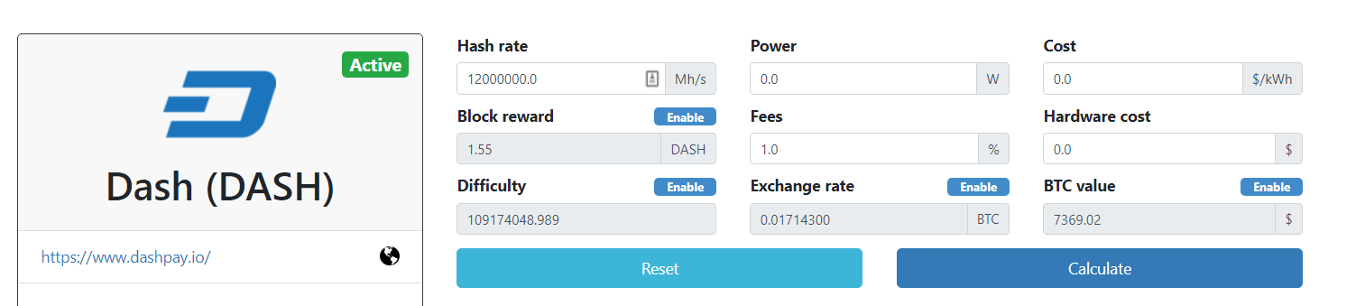 dash-mining-calculator